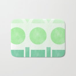 Green Shapes Bath Mat