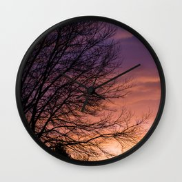 Sunsets and Silhouettes #1 Wall Clock