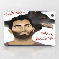 derek hale iPad Cases featuring Derek Hale - Oh Alpha, my Alpha by LittleMagicFox