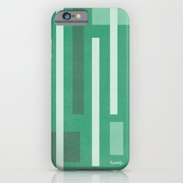 Lines and Lines Green Blue iPhone Case