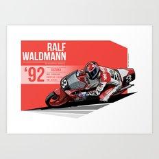 Ralf Waldmann - 1992 Suzuka Art Print