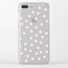 Simply Dots in Pink Flamingo Clear iPhone Case