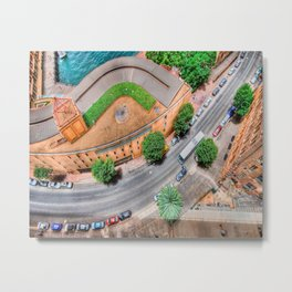 View From The Top    (digital painting) Metal Print