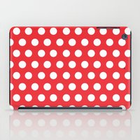 minnie mouse iPad Cases featuring Minnie Mouse Dots | Red by DisPrints