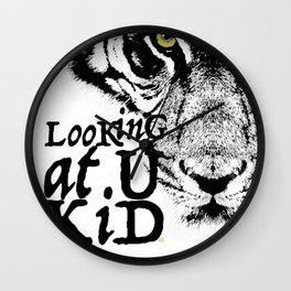 LooKinG at U KiD and the eYe of the TiGer Wall Clock
