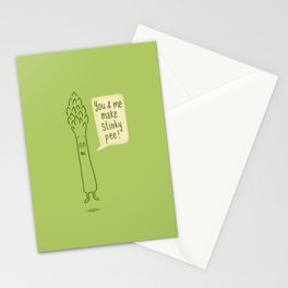 Happy Asparagus  Stationery Cards
