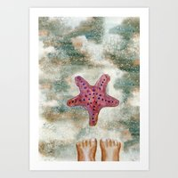 feet Art Prints featuring Feet by Geckojoy