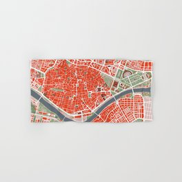 Seville city map classic Hand & Bath Towel