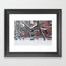 Trees & Snow Framed Art Print