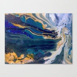 Marblized, Blue Series Canvas Print