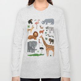 Safari Animals Long Sleeve T-shirt