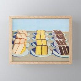 "Classical Masterpiece ""Cake Rows"" by Wayne Thiebaud,1920 Framed Mini Art Print"