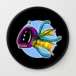 Albert the Tentacle Whale - Underwater Mix Up! Wall Clock