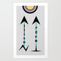 allison argent Art Prints featuring Allison Argent by Ana Sánchez
