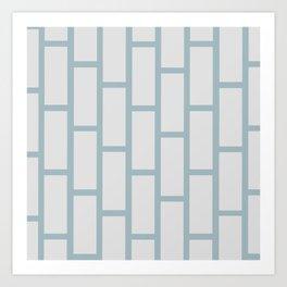Grey on Gray Brick Art Print
