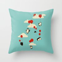whimsical Throw Pillows featuring We Can Fly! by Jay Fleck