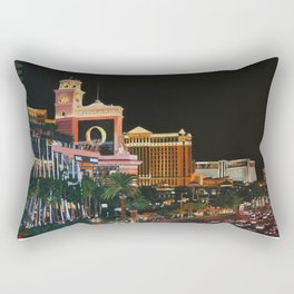 Las Vegas Strip Oil On Canvas Rectangular Pillow
