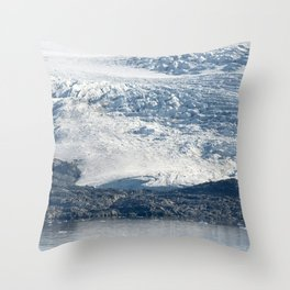 Arctic glacier, rock and icy water Throw Pillow
