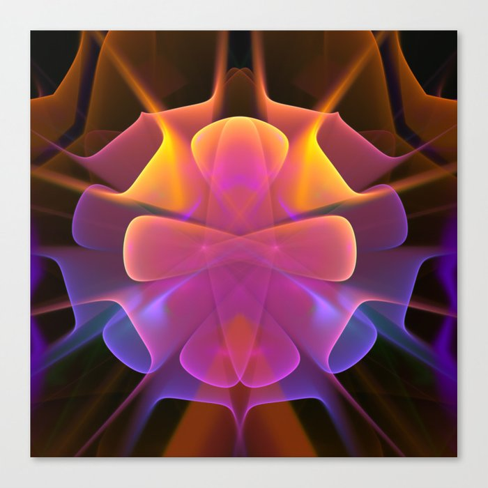 Curves and Colors, geometric abstract Canvas Print