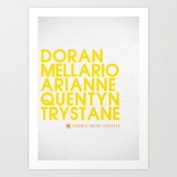 martell Art Prints featuring Doran Martell Typography series II by P3RF3KT