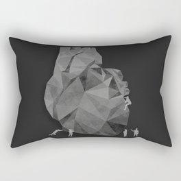 Concrete Heart Rectangular Pillow