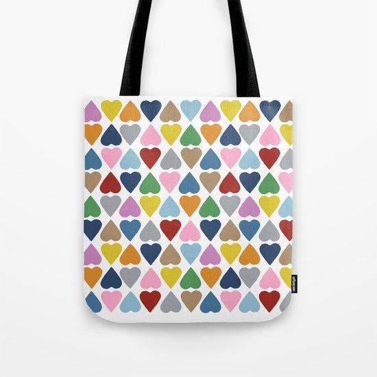 Diamond Hearts Repeat Tote Bag
