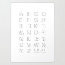 Futura White Art Print