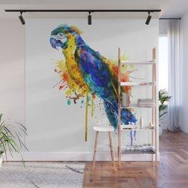 Parrot Watercolor Wall Mural