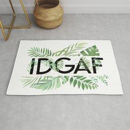 IDGAF Jungle Green Rug