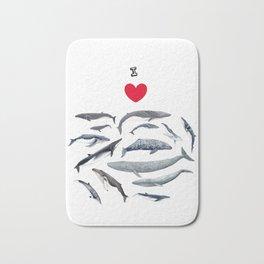 I love whales design Bath Mat