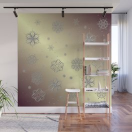 Snowflakes in the Sky Wall Mural
