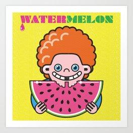 Watermelon Kid Art Print