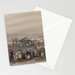 Vintage Print - The Holy Land, Vol 2 (1843) - Encampment of Pilgrims, Jericho Stationery Cards