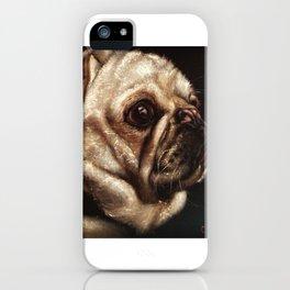 Pug Celebrated in Black Velvet iPhone Case