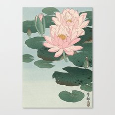 Flowering Water Lily, Ohara Koson Canvas Print