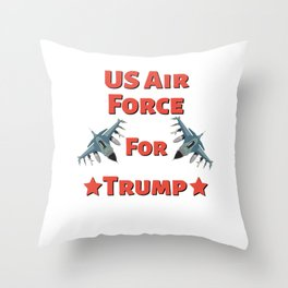 US Air Force For Trump - Pro Trump US 2020 Election Design Throw Pillow