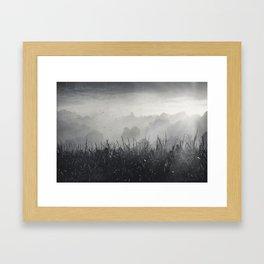veiled land Framed Art Print