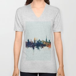 Newcastle England Skyline Unisex V-Neck