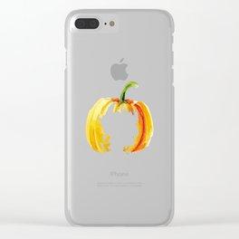 Thanksgiving Pumpkin Abstract Modern Art Clear iPhone Case