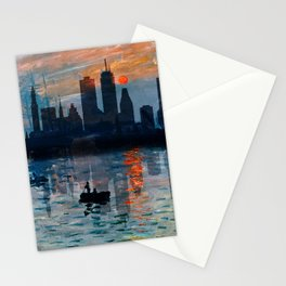 Boston Skyline 12 Stationery Cards