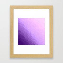 Lavender Texture Ombre Framed Art Print