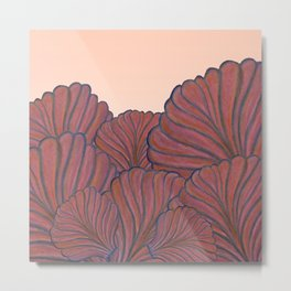 Australica Coral Shell Love Metal Print