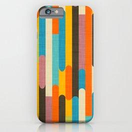 Retro Color Block Popsicle Sticks Orange iPhone Case