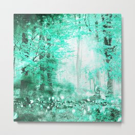 279 3 Turquoise Forest Metal Print