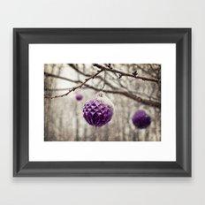Amethyst Winter Framed Art Print