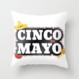 Cinco De Mayo Mexican Party Cinco De Mayo Costume Throw Pillow