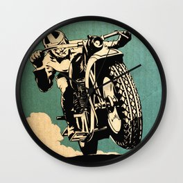 Motorcycle Race Wall Clock