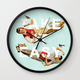 Take It Easy Wall Clock