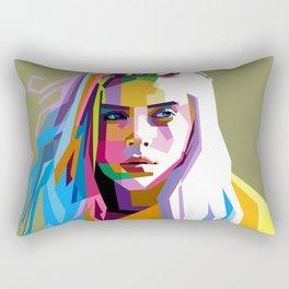 Billie Eilish - pop art Rectangular Pillow