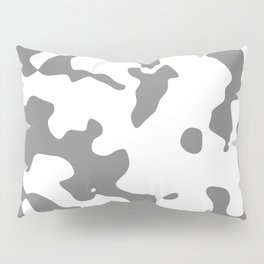 Large Spots - White and Gray Pillow Sham